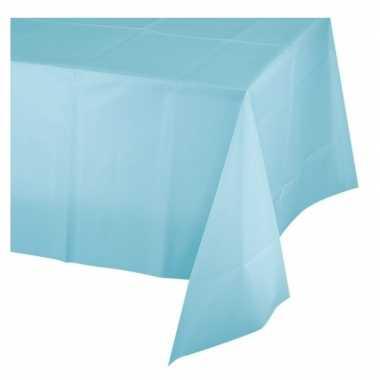 Lichtblauwe wegwerp tafelkleden 137 x 274 cm van plastic