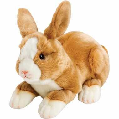 Lichtbruin knuffel konijntje/haasje 35 cm