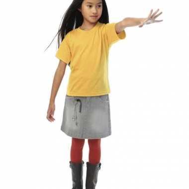 Lichtgeel t-shirt voor kinderen