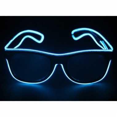 Lichtgevende feestbril blauw