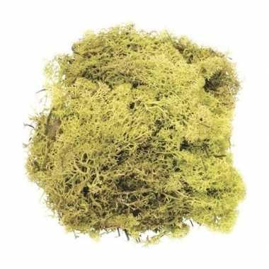 Lichtgroene mos natuurlijk materiaal 50 gram