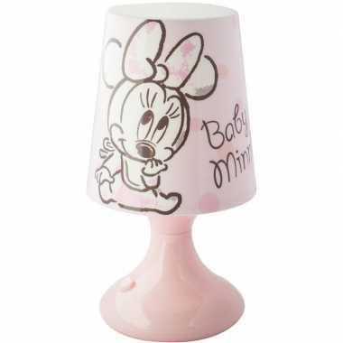 Lichtroze disney minnie/katrien lampje/nachtlampje voor kinderen