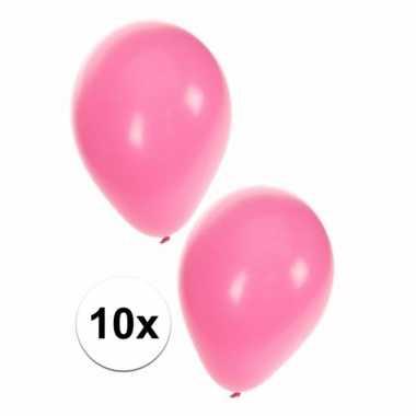 Lichtroze kraamfeest ballonnen 10x
