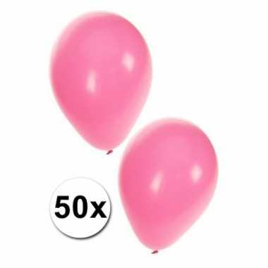 Lichtroze kraamfeest ballonnen 50x