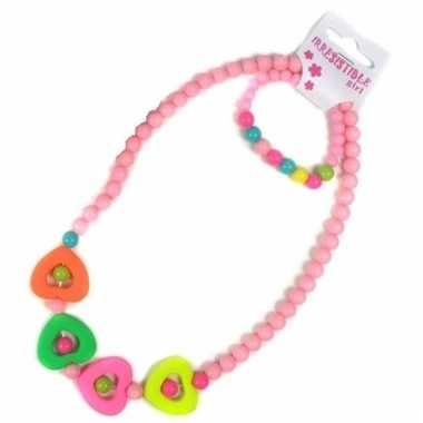 Lichtroze sieraden setje voor kids