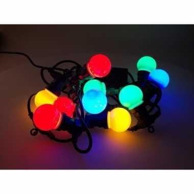 Lichtsnoer 10 led bollampjes gekleurd
