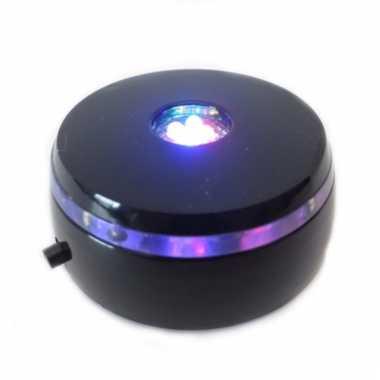 Lichtvoetje zwart voor glazen bol 8 cm
