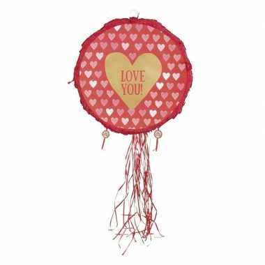 Liefde thema pinata hartjes rood 40 cm