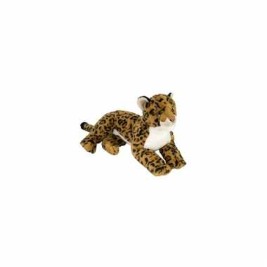 Liggende luipaarden knuffel 40 cm