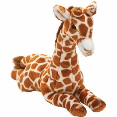 Liggende pluche giraffe knuffel 35 cm