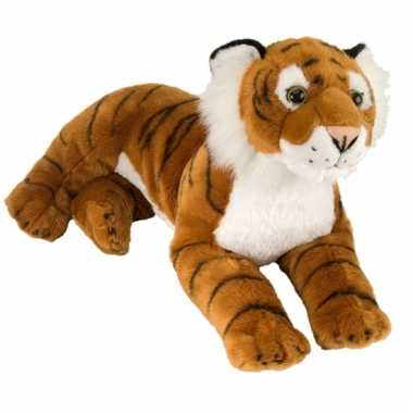 Liggende tijger knuffel 40 cm