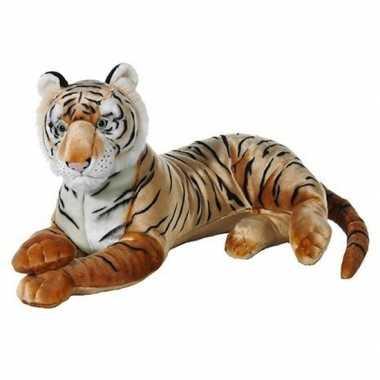Liggende tijger knuffeldier pluche 70 cm
