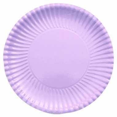 Lila paarse kartonnen borden 29 cm