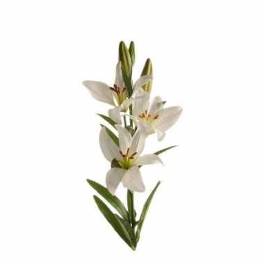 Lilium candidum witte lelie kunstbloem wit 70 cm