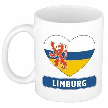 Limburgse vlag hart mok / beker 300 ml