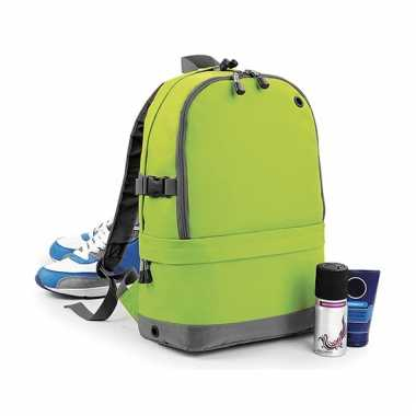 Limegroene backpack 18 liter