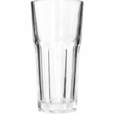 Longdrink glas/glazen 4x stuks van 280 ml