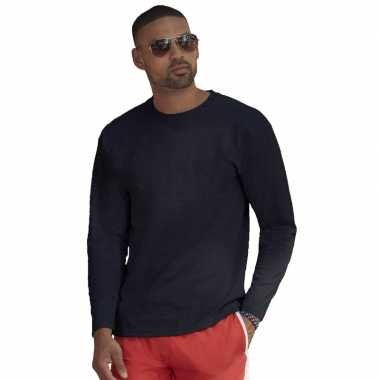 Longsleeves basic t-shirts navy blauw voor mannen