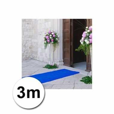 Loper in de kleur blauwe 1 bij 3 meter