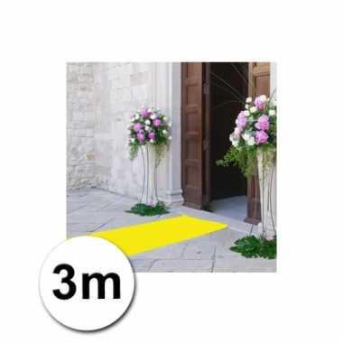 Loper in de kleur gele 1 bij 3 meter