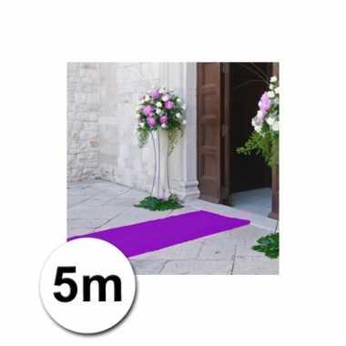 Loper in de kleur paarse 1 bij 5 meter