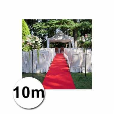 Loper in de kleur rode 1 bij 10 meter