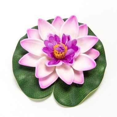 Lotus/waterlelie kunstbloem lila paars 10 cm