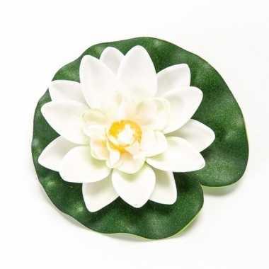 Lotus/waterlelie kunstbloem wit 10 cm