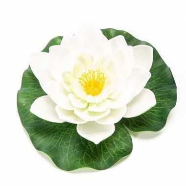 Lotus/waterlelie kunstbloem wit 16 cm