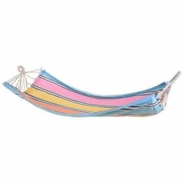 Lounge hangmat blauwe rand 255 cm