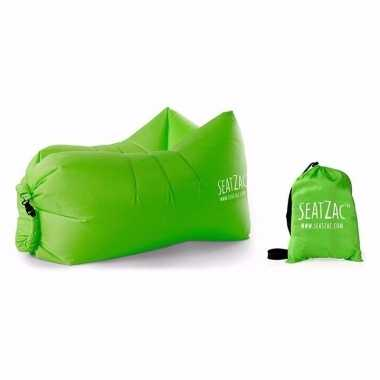 Lucht stoel/lucht zitzak groen