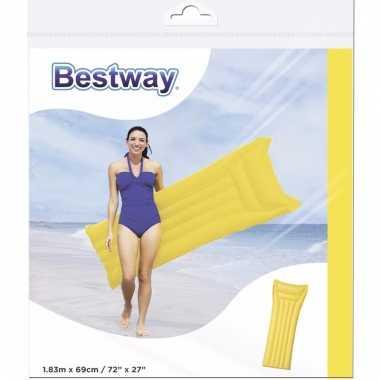 Luchtbed in gele kleur 183 cm