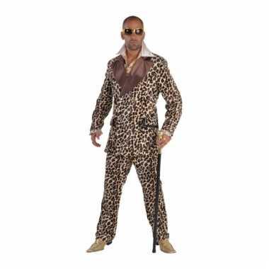 Luipaardprint kostuum pooier style