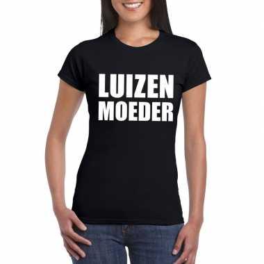 Luizenmoeder tekst t-shirt zwart dames