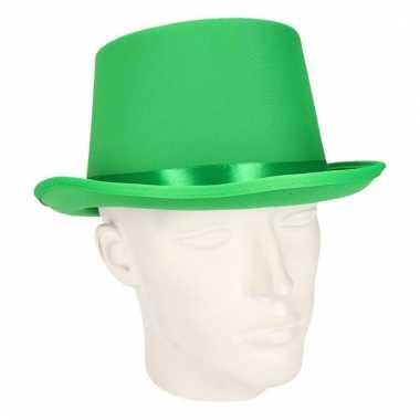 Luxe groene hoge feesthoed