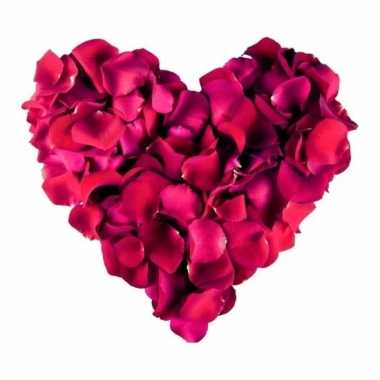 Luxe rozenblaadjes donkerrood 500 stuks