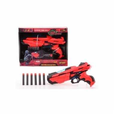 Medium rood speelgoed pistool 29 cm