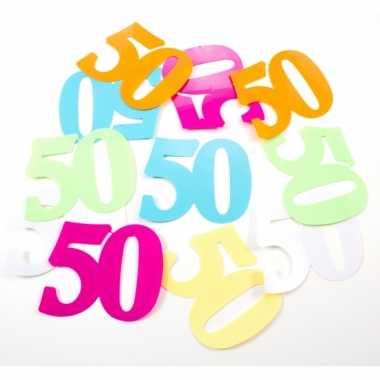 Mega confetti 50 jaar versiering 36 stuks