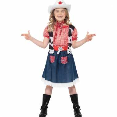 Meisjes carnavalskleding cowgirl