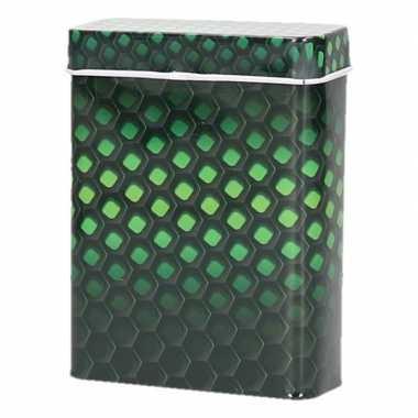 Metalen peukenblikje zwart/groen