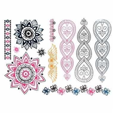 Metallic tattoos mandala