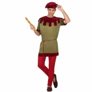 Middeleeuws page verkleed kostuum voor heren