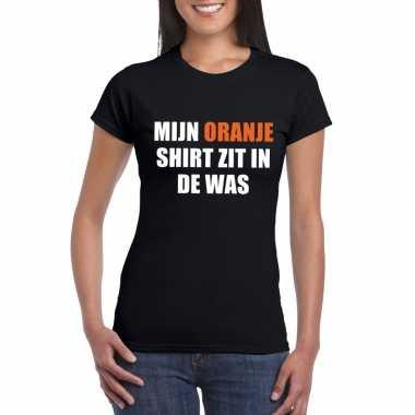 Mijn oranje shirt zit in de was t-shirt zwart dames