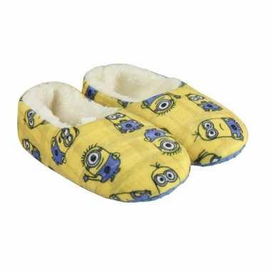Minions pantoffeltjes/slofjes kevin/dave/tim geel voor jongens