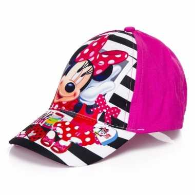 Minnie mouse kids petje roze