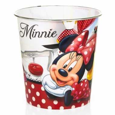 Minnie mouse prullenmand wit rood