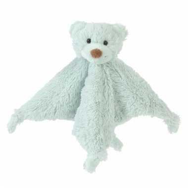 Mintgroene tuttel knuffel lapje van een beer 20 cm