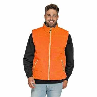 Mouwloze sport vesten oranje voor heren