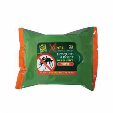 Muggenwerende doekjes met langdurige werking