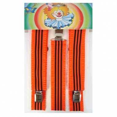 Neon oranje bretels gestreept